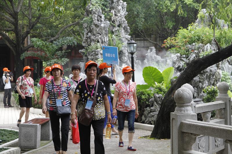 百岁健步游羊城,助力北京申